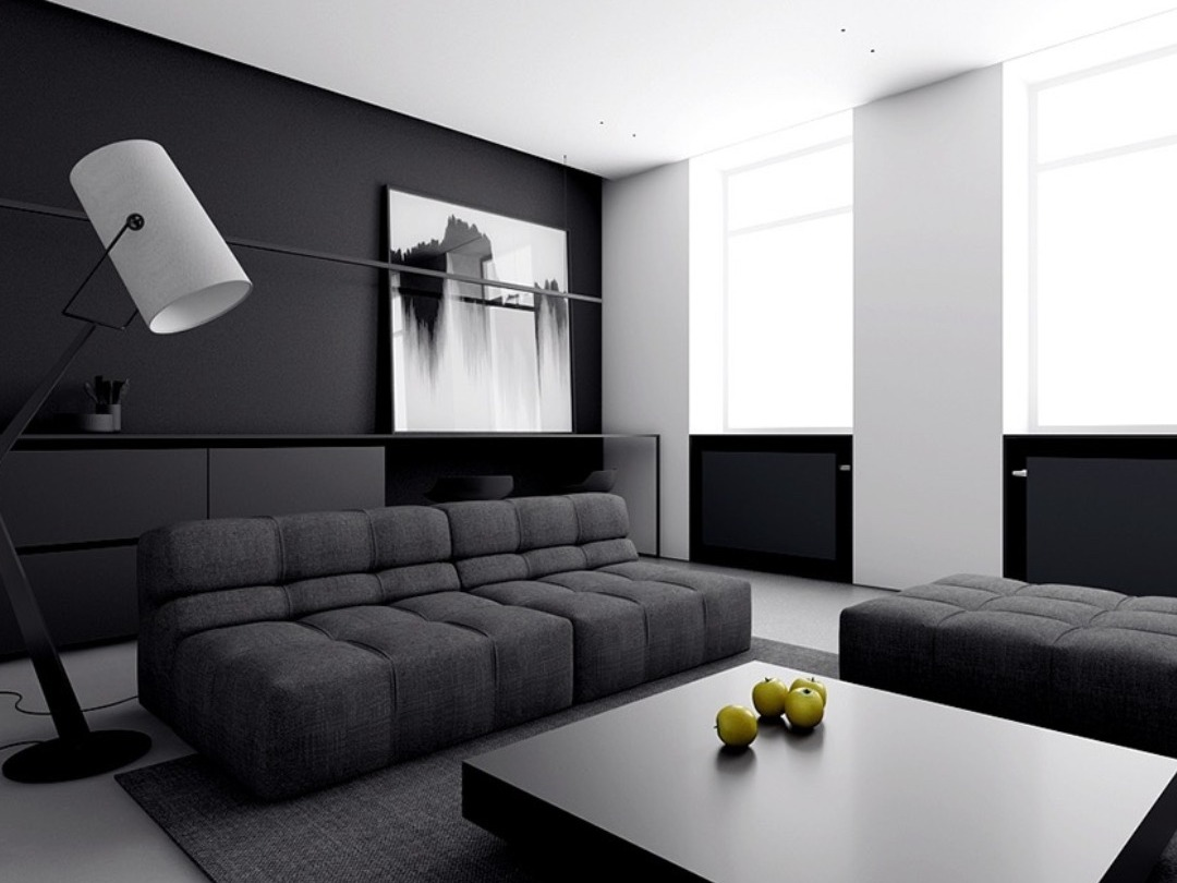 The timeless allure of black and white furnishings.